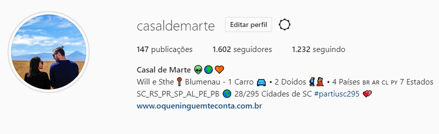 Acesse o Instagram @casaldemarte