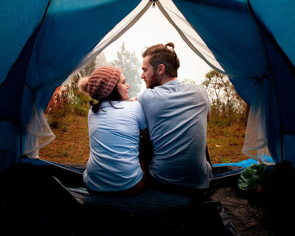 Fizemos um acampamento selvagem no Morro São Roque em Rio do Campo