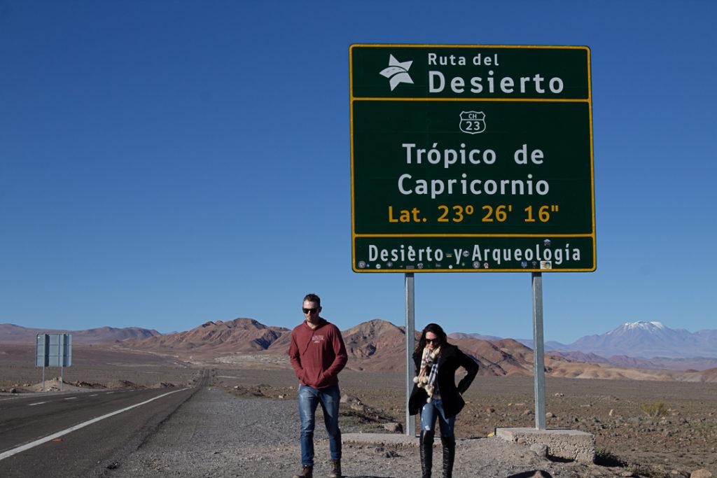 Onde fica a Placa do Trópico Capricórnio no Deserto do Atacama?
