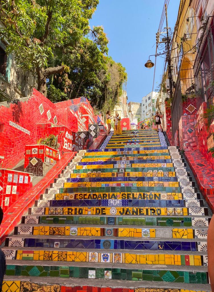 A famosa Escadaria do Selarón no Rio de Janeiro