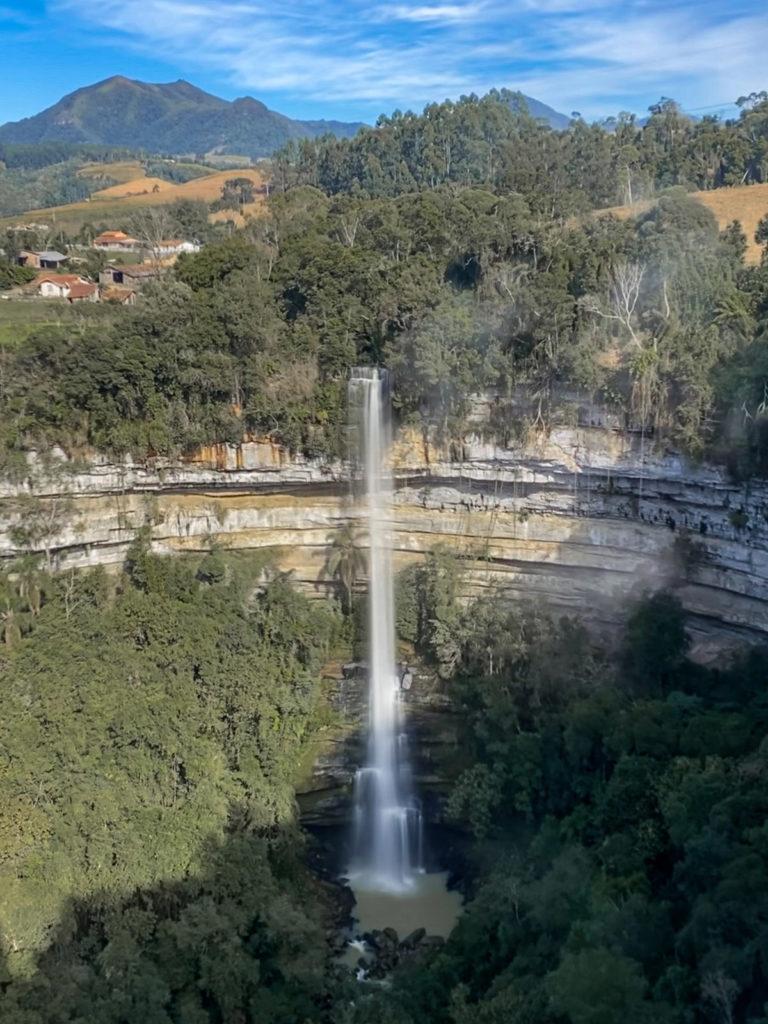 O que fazer no Alto Vale do Itajaí: Mirante da Cachoeira do Rio do Salto em Chapadão do Lageado